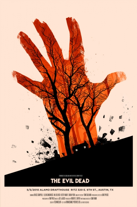Mondo Evil Dead poster by Olly Moss