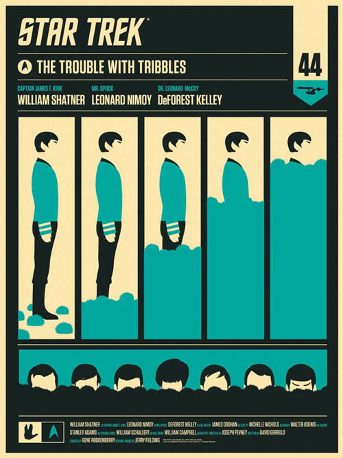 Mondo Star Trek The Trouble with Tribbles poster by Olly Moss