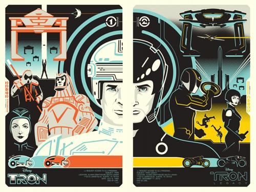 Mondo Tron posters by Eric Tan