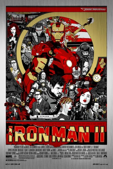 Mondo Iron Man 2 variant poster by Tyler Stout