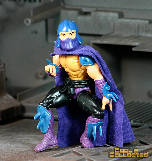 Detailed close-up photo of a 1988 TMNT action figure Shredder
