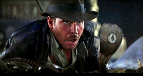 raiders of the lost ark cobra scene