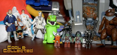 yard sale haul -- lego minifigs