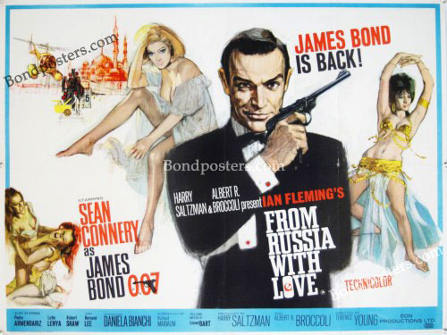 James Bond From Russia With Love UK Quad