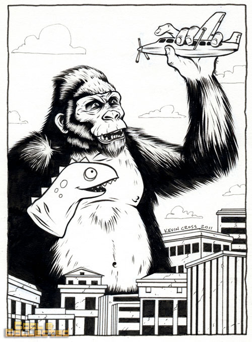 King Kong drawing by Kevin Cross