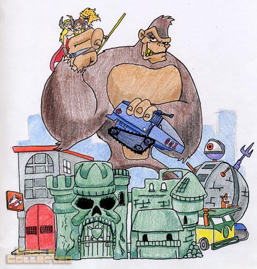 King Kong artwork by Tom Krohne