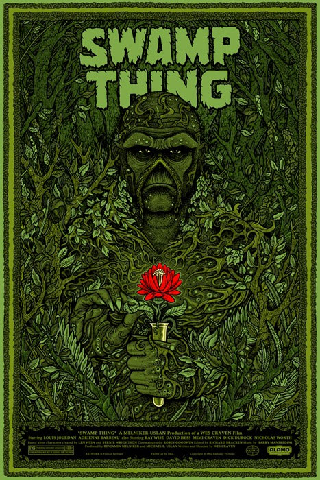 mondo swamp thing poster - wes craven