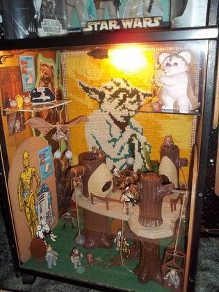 star wars robert fisher collection Ewok Village diorama store display