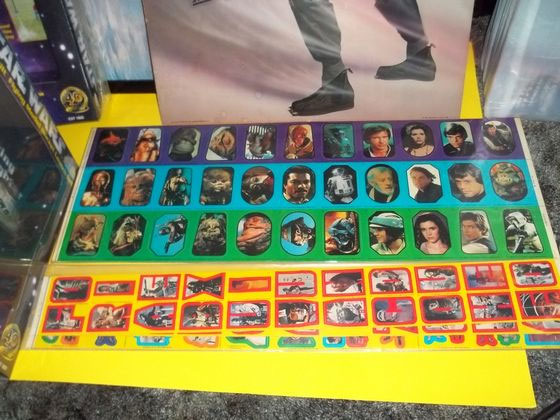 star wars robert fisher collection uncut sticker sheets