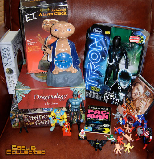 thrift store haul - action figures and games