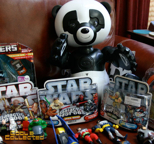 yard sale Wowee Robopanda and Star Wars Galactic Heroes figures