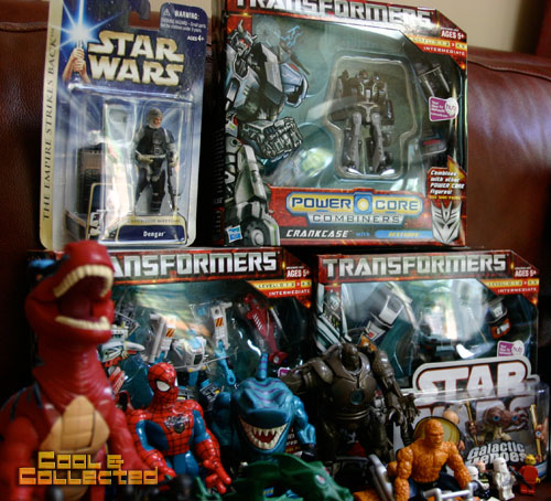 yard sale transformers and Star Wars action figure