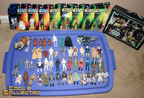 collection of vintage star wars action figures