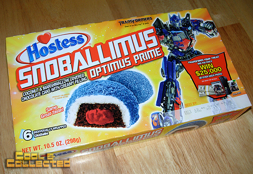 hostess snoballimus optimus prime transformers cupcakes