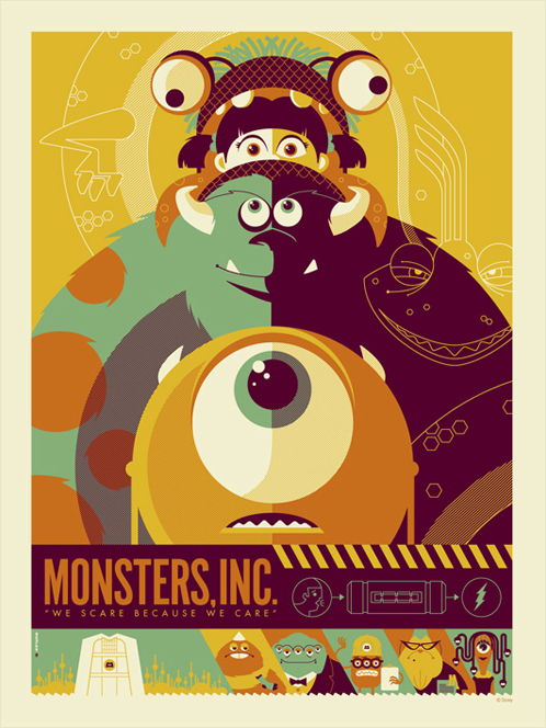 mondo monsters inc by Tom Whalen