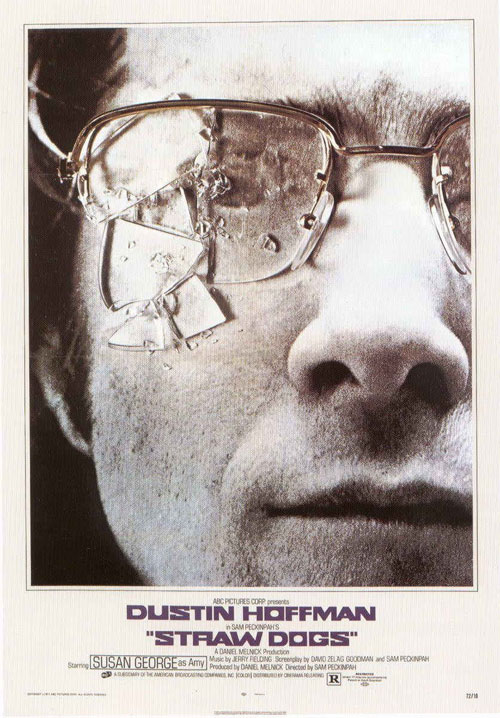 straw dogs - Dustin Hoffman movie poster