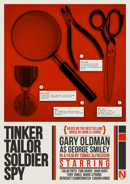 tinker tailor soldier spy -- needle design