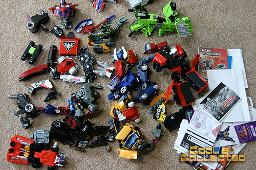 Transformers For Sale >> Yard Sale Haul Michael Jackson Meets Optimus Prime And I