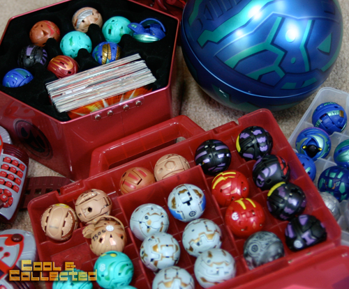 bakugan toy collection with cards