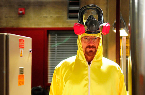 breaking bad walter white in his lab suit