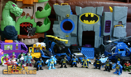 imaginext batman super hero collection with the batcave