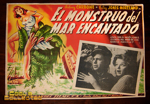 Mexican lobby card for the Creature from the Haunted Sea