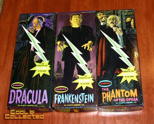 aurora model kits - dracula frankenstein phantom