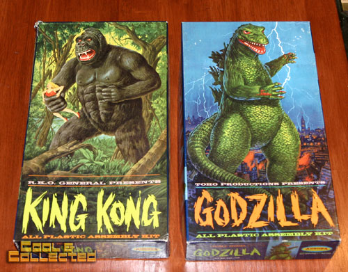 aurora model kits -- king kong and godzilla