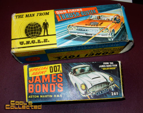 corgi james bond and man from uncle diecast cars
