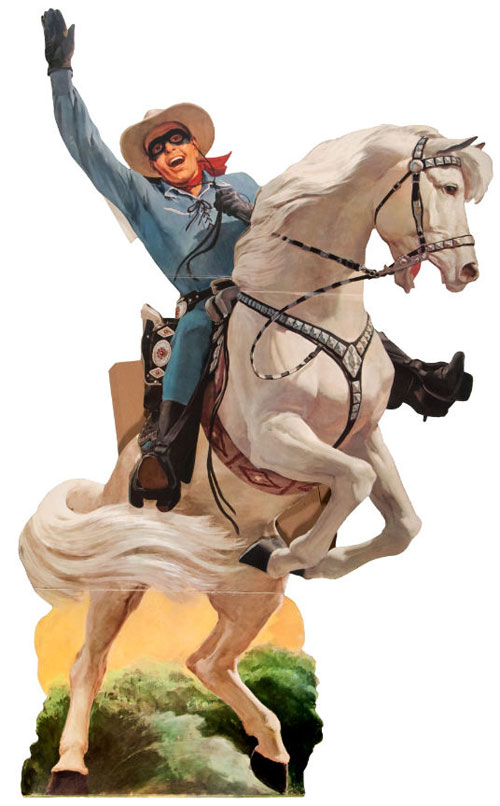 THE LONE RANGER 1957 LARGE & IMPRESSIVE GENERAL MILLS STORE DISPLAY STANDEE.