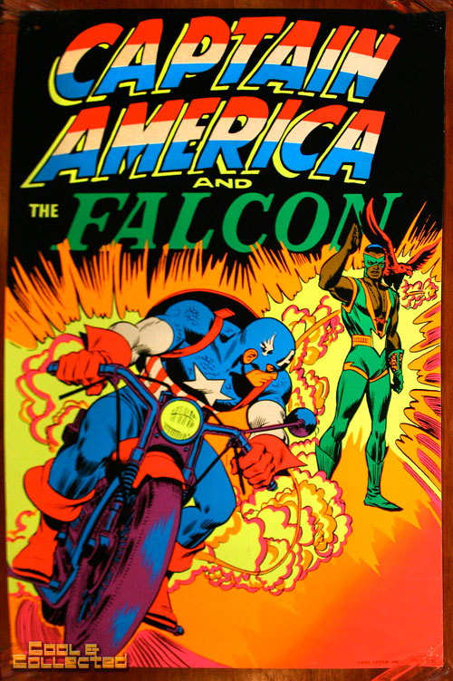 marvel third eye poster blacklight captain america falcon