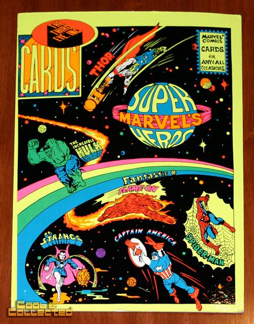 marvel third eye postcard blacklight display poster