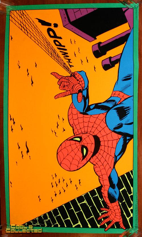 marvel third eye poster blacklight spiderman