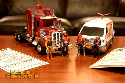 M.A.S.K. 80's toys - Rhino and Slingshot