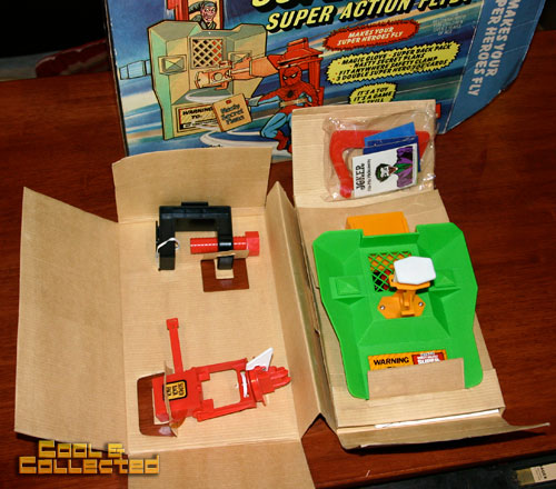 Mego Supervator with Spiderman -- Super Action Flyby