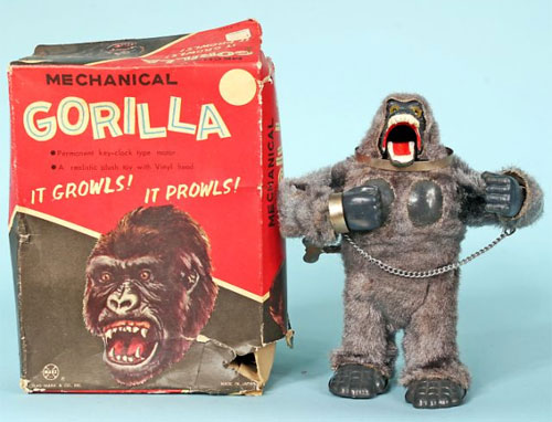 old town auctions - marx mechanical gorilla king kong