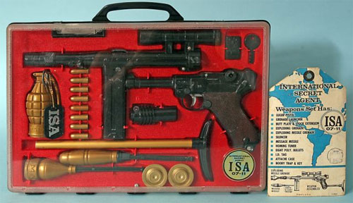 old town auctions - marx international secret agent weapons set