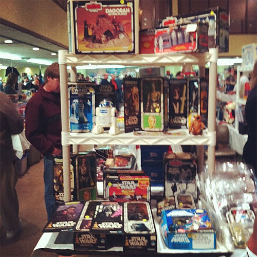 Star Wars toys at the toy man toy show - St. louis, Missouri