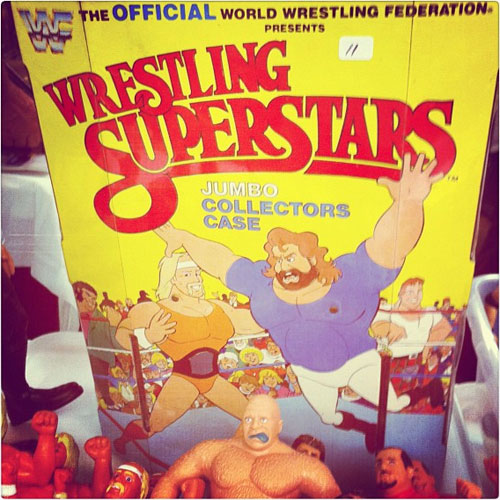 Wrestling toys at the toy man toy show - St. louis, Missouri
