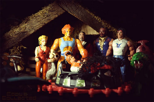 Christmas action figure nativity scene