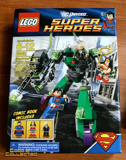 lego superman vs power armor lex luthor