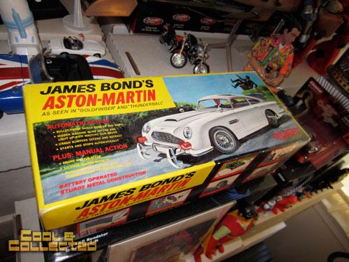 Vintage James Bond toy collection - aston martin