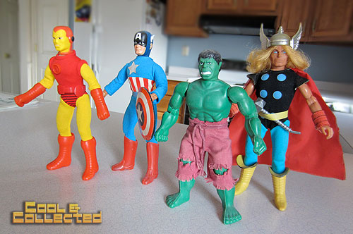 Avengers vintage mego action figure collection