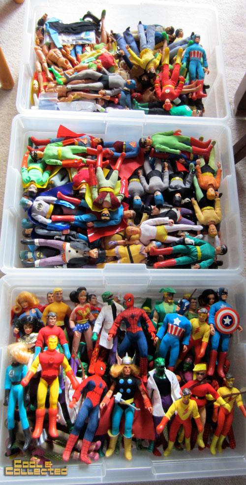 Huge vintage mego action figure collection