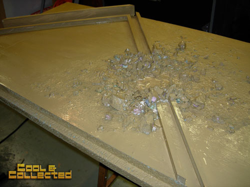 how to build a diorama backdrop for action figure photography - making crumbled stones