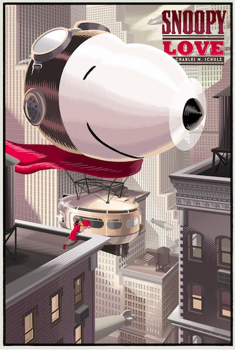 "Laurent Durieux ""Snoopy Love"" poster"