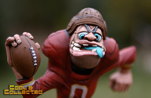 marx nutty mads end zone football player closeup detail