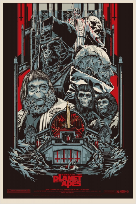 Beneath the Planet of the Apes by Ken Taylor - Mondo Poster