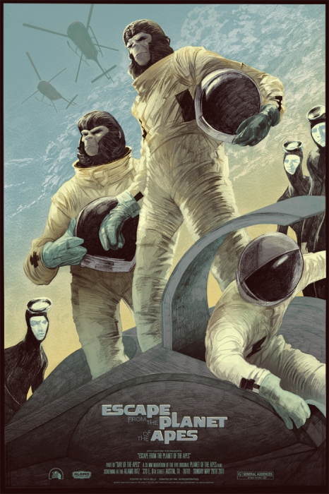 Escape from the Planet of the Apes by Rich Kelly - Mondo poster