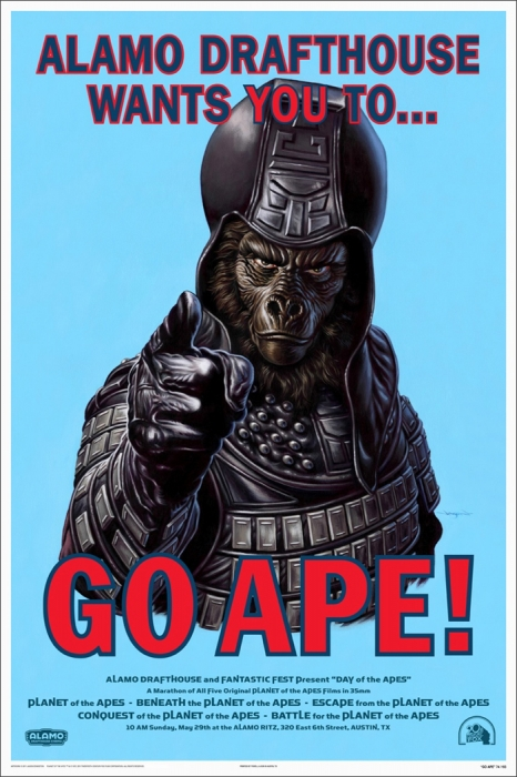 Go Ape by Jason Edmiston - Mondo poster